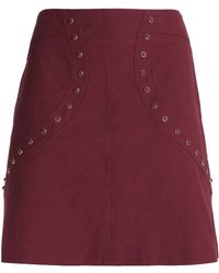 M Missoni - Studded Cotton-blend Ponte Mini Skirt - Lyst