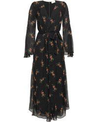 c7a6324d49 Zimmermann - Woman Floral-print Fil Coupé Silk-blend Chiffon Jumpsuit Black  - Lyst