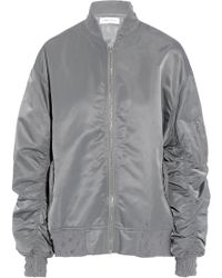 IRO - Distressed Ruched Shell Bomber Jacket - Lyst