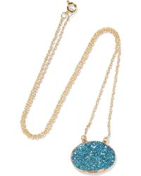 Dara Ettinger - Gold-plated Stone Necklace - Lyst