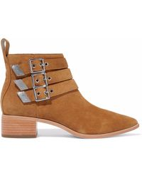 Loeffler Randall - Buckled Suede Ankle Boots - Lyst