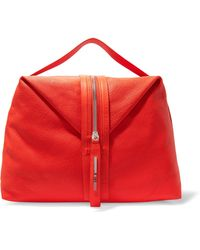 McQ - Hobo Textured-leather Tote - Lyst