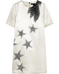 Marc By Marc Jacobs - Cosmo Night Star-appliquéd Satin Mini Dress - Lyst