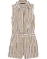 Marc By Marc Jacobs - Striped Cotton-blend Playsuit - Lyst