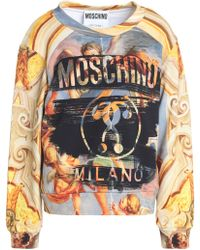 Moschino - Printed French Cotton-terry Sweatshirt - Lyst