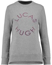 Lucas Hugh - Printed Cotton-blend Sweatshirt - Lyst