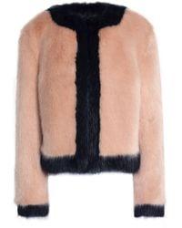 Shrimps - Woman Two-tone Faux Fur Coat Blush - Lyst