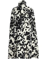 MSGM - Printed Wool Cape - Lyst