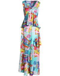 House of Holland - Woman Ruffled Printed Satin-crepe Maxi Dress Multicolor - Lyst