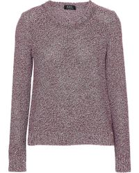 A.P.C. - Marled Cotton And Silk-blend Sweater - Lyst