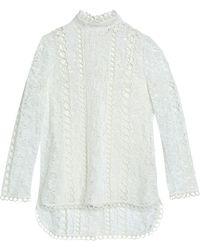 Zimmermann - Cotton-blend Lace Top - Lyst