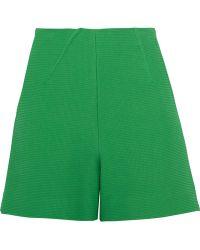 Roland Mouret - Kelston Textured Cotton-blend Shorts - Lyst
