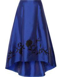 Noir Sachin & Babi - Salma Embellished Satin-twill Maxi Skirt - Lyst