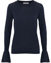 Autumn Cashmere - Fluted Cashmere Sweater - Lyst