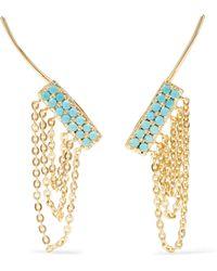 Noir Jewelry - Gold-tone Stone Earrings - Lyst