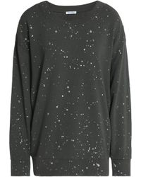 Splendid - Printed Cotton-jersey Sweatshirt - Lyst