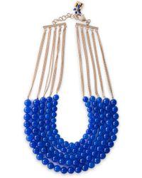 Rosantica Gold-tone Beaded Necklace Blue