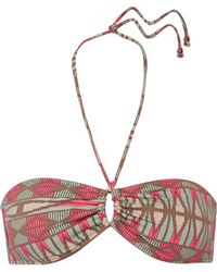 Eberjey - Geo Weave Cora Printed Halterneck Bikini Top - Lyst