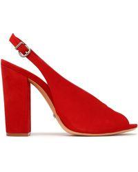 Schutz - Suede Slingback Sandals - Lyst