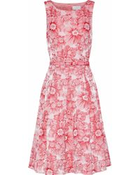 Mikael Aghal - Pleated Floral-jacquard Dress - Lyst
