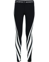 238e1c024052 Perfect Moment - Woman Striped Stretch Leggings Black - Lyst