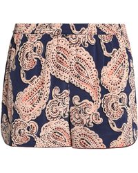 Stella McCartney - Poppy Snoozing Printed Stretch-silk Pajama Shorts - Lyst f7247762e