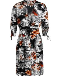 Maje - Printed Crepe Mini Dress - Lyst