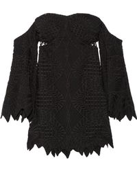 Jonathan Simkhai - Off-the-shoulder Guipure Lace And Crepe Top - Lyst