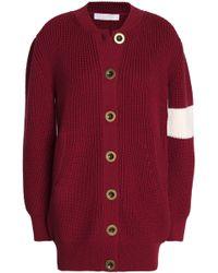 Chloé - Ribbed Wool Cardigan - Lyst