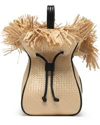 3.1 Phillip Lim - Leather-trimmed Frayed Woven Bucket Bag - Lyst