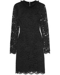 Marc By Marc Jacobs - Velvet-trimmed Guipure Lace Mini Dress - Lyst