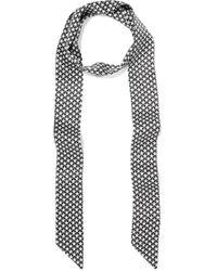 Equipment - Bria Printed Washed-silk Scarf - Lyst