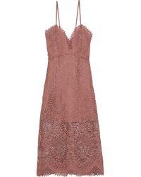 Marissa Webb - Dillon Guipure Lace Midi Dress Antique Rose - Lyst