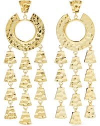 Noir Jewelry - Woman Hammered Gold-tone Earrings Gold Size -- - Lyst