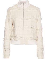 A.L.C. - Judd Frayed Cotton-blend Bouclé-tweed Jacket - Lyst