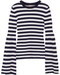 Michael Kors - Striped Cashmere Sweater - Lyst