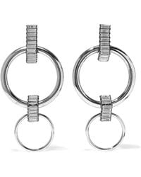 Elizabeth Cole - Woman Silver-tone Crystal Earrings Silver - Lyst