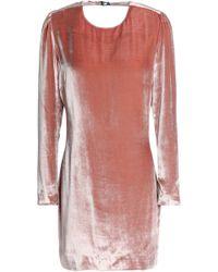 Fleur du Mal - Open-back Velvet Mini Dress - Lyst