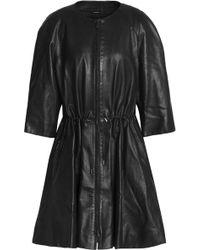 Giorgio Armani - Texturted-leather Coat - Lyst