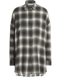 Vince - Checked Cotton And Wool-blend Flannel Shirt - Lyst