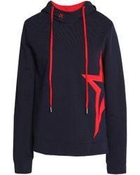 Perfect Moment - Embroidered Cotton-terry Hooded Sweatshirt - Lyst