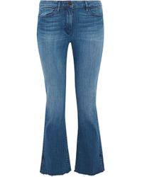 3x1 - Frayed Mid-rise Kick-flare Jeans - Lyst