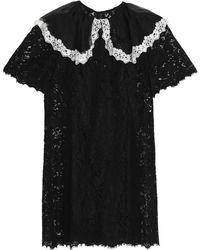 Dolce & Gabbana - Two-tone Lace Mini Dress - Lyst