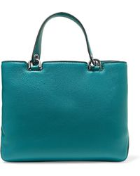MICHAEL Michael Kors - Textured-leather Tote Royal Blue - Lyst