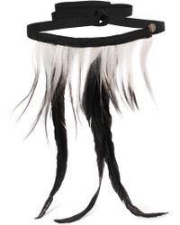 Ann Demeulemeester - Woman Necklaces Black - Lyst