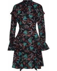 W118 by Walter Baker - Fiona Ruffled Floral-print Crepe De Chine Dress - Lyst