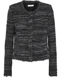 IRO - Carene Bouclé-tweed Jacket Anthracite - Lyst