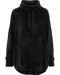 DKNY - Woman Fleece Hooded Pyjama Top Black - Lyst