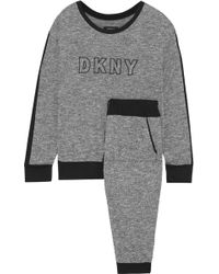 DKNY - Woman Self Titled Printed French Terry Pajama Set Anthracite - Lyst