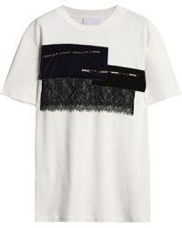 Koche - Embellished Cotton-jersey T-shirt - Lyst